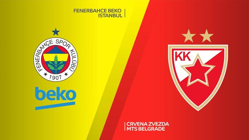 Fenerbahce Beko Istanbul - Crvena Zvezda mts Belgrade Highlights   EuroLeague, RS Round 27