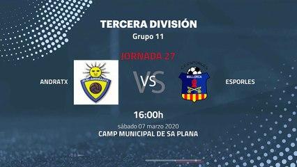 Previa partido entre Andratx y Esporles Jornada 27 Tercera División