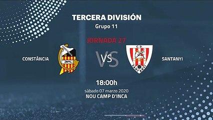Previa partido entre Constància y Santanyi Jornada 27 Tercera División