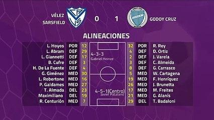 Resumen partido entre Vélez Sarsfield y Godoy Cruz Jornada 20 Superliga Argentina