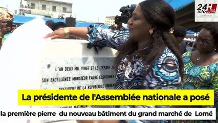 Togo : Pose de la pierre du nouveau bâtiment du grand marché de Lomé