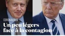 Les déclarations peu prudentes de Johnson et Trump sur le coronavirus