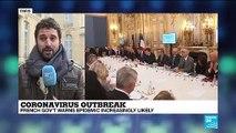 Coronavirus outbreak: French president Emmanuel Macron holds talks with health experts