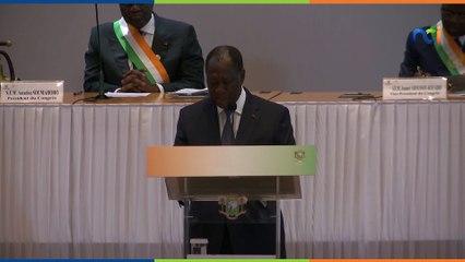 Résumé de l'adresse du Président Alassane Ouattara devant le Congrès à Yamoussoukro