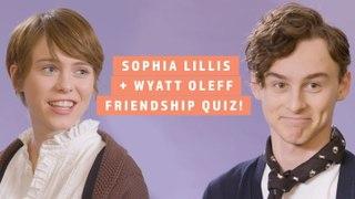 Sophia Lillis & Wyatt Oleff Test Their IRL Friendship