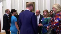 Harry and Meghan mingle at Endeavour Awards reception