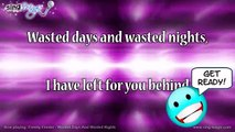 Freddy Fender - Wasted Days And Wasted Nights Karaoke Version Instrumental
