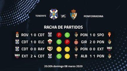 Previa partido entre Tenerife y Ponferradina Jornada 31 Segunda División