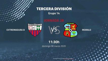 Previa partido entre Extremadura B y Moralo Jornada 28 Tercera División