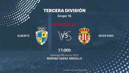 Previa partido entre Alberite y  River Ebro Jornada 28 Tercera División