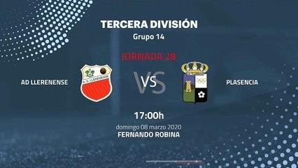 Previa partido entre AD Llerenense y Plasencia Jornada 28 Tercera División