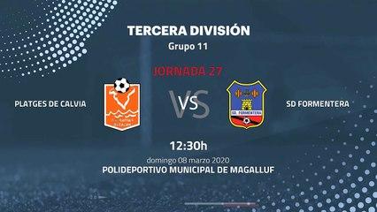 Previa partido entre Platges de Calvia y SD Formentera Jornada 27 Tercera División