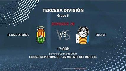 Previa partido entre FC Jove Español y Silla CF Jornada 28 Tercera División