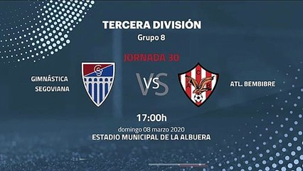 Previa partido entre Gimnástica Segoviana y Atl. Bembibre Jornada 30 Tercera División