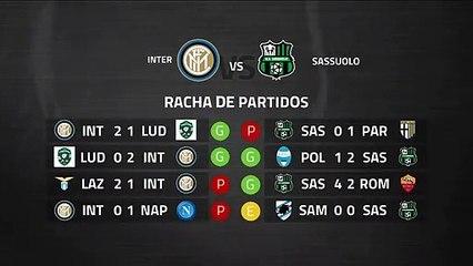 Previa partido entre Inter y Sassuolo Jornada 27 Serie A
