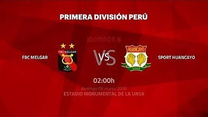 Previa partido entre FBC Melgar y Sport Huancayo Jornada 6 Perú - Liga 1 Apertura