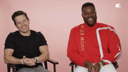 Mark Wahlberg & Winston Duke Weigh In on Gym Selfies and Socks With Sandals