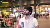Shahid kapoor and Raveena Tandon Spotted At the Airpor