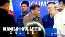 Duterte, MVP cross paths in Caloocan