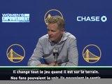 """NBA - Kerr : """"Nous sommes une équipe différente quand Curry est sur le terrain"""""""