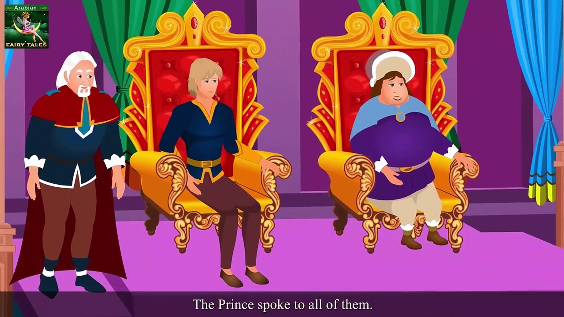 Prince and the Honest Girl Story in Arabic - Arabain Fairy Tales