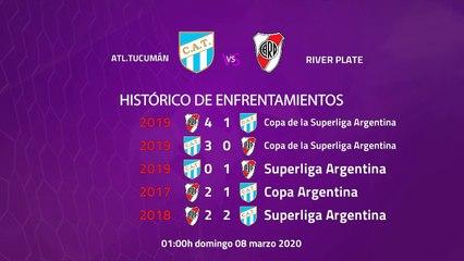 Previa partido entre Atl.Tucumán y River Plate Jornada 23 Superliga Argentina
