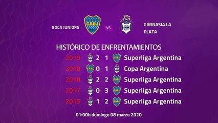 Previa partido entre Boca Juniors y Gimnasia La Plata Jornada 23 Superliga Argentina