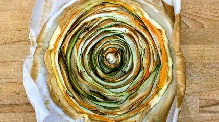 Recette : Quiche spirale aux légumes et au chèvre