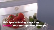 This Space-Saving Hack Can Double Your Refrigerator Storage