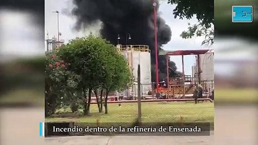 Susto y tensión por el incendio dentro de refinería de YPF en Ensenada