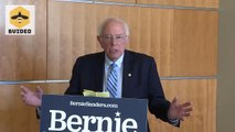 Senator Bernie Sanders responds to Elizabeth Warren dropping out of presidential contest
