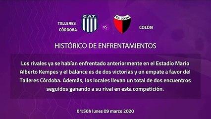 Previa partido entre Talleres Córdoba y Colón Jornada 23 Superliga Argentina
