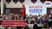Elizabeth Warren of Massachusetts dropped out of the 2020 presidential race