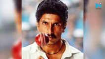 Ranveer Singh recreates iconic moment when Kapil Dev lifted 1983 world Cup trophy