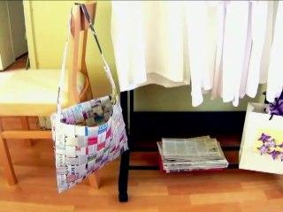 Make a Woven Newspaper Bag