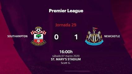 Resumen partido entre Southampton y Newcastle Jornada 29 Premier League