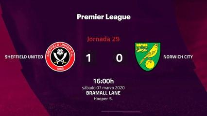 Resumen partido entre Sheffield United y Norwich City Jornada 29 Premier League