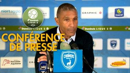 Conférence de presse Chamois Niortais - AS Nancy Lorraine (1-1) : Franck PASSI (CNFC) - Jean-Louis GARCIA (ASNL) - 2019/2020