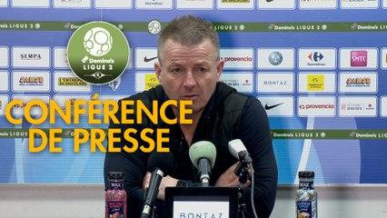 Conférence de presse Grenoble Foot 38 - Valenciennes FC (1-3) : Philippe  HINSCHBERGER (GF38) - Olivier GUEGAN (VAFC) - 2019/2020