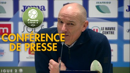 Conférence de presse Havre AC - AJ Auxerre (1-0) : Paul LE GUEN (HAC) - Jean-Marc FURLAN (AJA) - 2019/2020