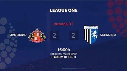 Resumen partido entre Sunderland y Gillingham Jornada 37 League One