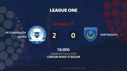 Resumen partido entre Peterborough United y Portsmouth Jornada 37 League One