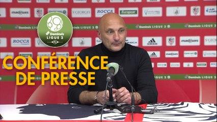 Conférence de presse AC Ajaccio - FC Lorient (1-0) : Olivier PANTALONI (ACA) - Christophe PELISSIER (FCL) - 2019/2020