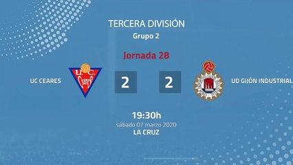 Resumen partido entre UC Ceares y UD Gijón Industrial Jornada 28 Tercera División