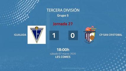 Resumen partido entre Igualada y CP San Cristobal Jornada 27 Tercera División