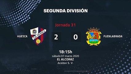 Resumen partido entre Huesca y Fuenlabrada Jornada 31 Segunda División
