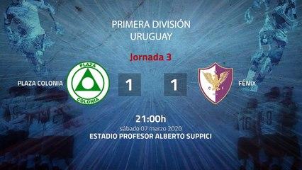 Resumen partido entre Plaza Colonia y Fénix Jornada 3 Apertura Uruguay
