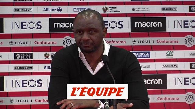 Vieira «On n'a pas volé ces trois points» - Foot - L1 - Nice