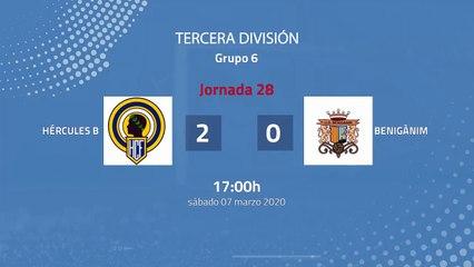 Resumen partido entre Hércules B y Benigànim Jornada 28 Tercera División