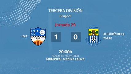 Resumen partido entre Loja y Alhaurín De La Torre Jornada 29 Tercera División